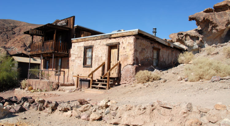 Old mining town hotel, California ghost town